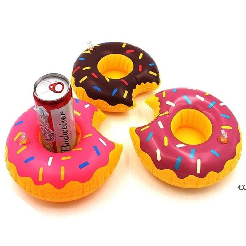 Надувной держатель чашки питья красочные чашки коврик пончик арбуз лимона в форме ПВХ плавательный бассейн упаковка DHE7138
