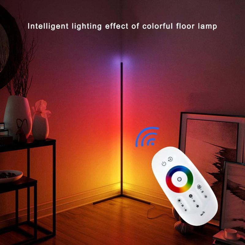 Floor Lamps Est Dimmable Lighting Corner Lamp Led RGB Color Changing With Remote Control For Living Room Home Decoration