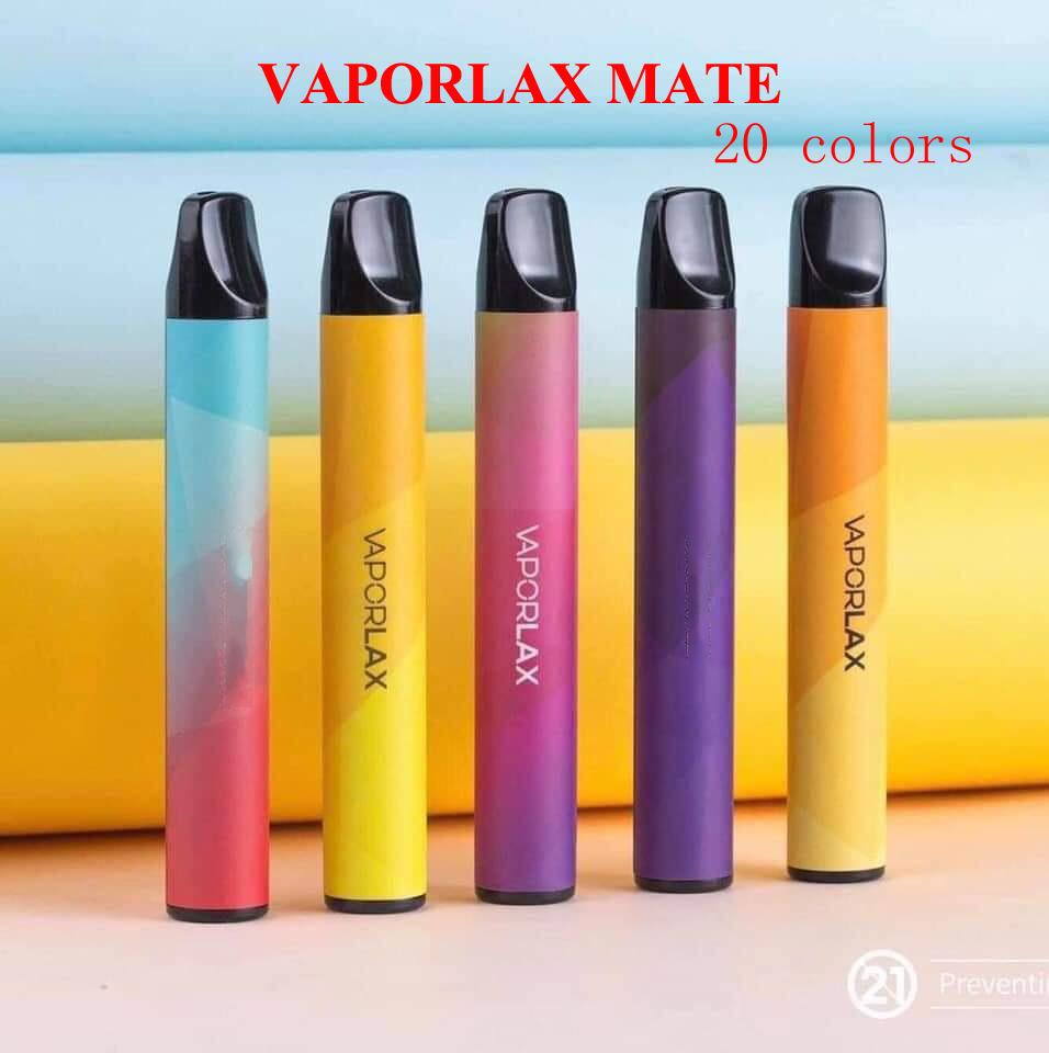 Original VAPORLAX MATE Disposable Device Pre-filled 3ml Cartridge Pod 500mAh Battery 800 Puff Vape Empty Xtra Bar PLUS Flow 100% Authentic