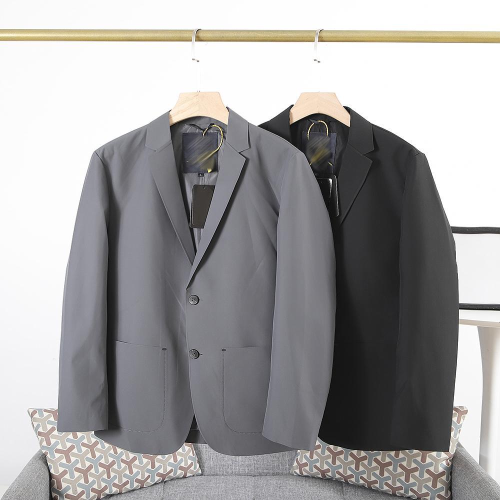 98541 رجل الحلل مصمم رسمي جاكيتات فاخرة معاطف الرجال سترة أزياء الخريف الشتاء سترة 2 ألوان أسود رمادي M-3XL