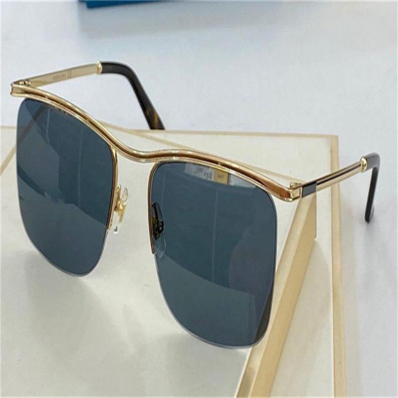 Estilo metálico casual moda lente gafas nuevo marco mujer 0823 mitad uv400 noble diseño hombre gafas de sol y protección de alta calidad cuadrada p EJMR