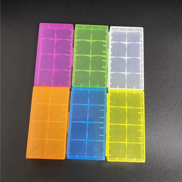 في سوق البطارية حالة صندوق سلامة حامل تخزين الحاويات البلاستيكية الحالات المحمولة تناسب 2 * 18650 أو 4 * 18350 CR123A 16340