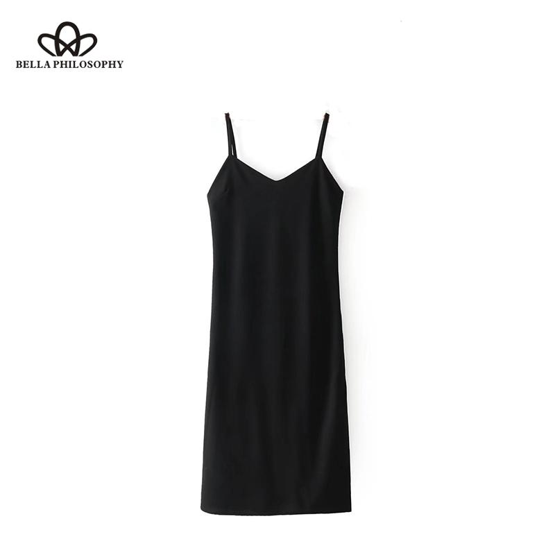 Strap Spaghetti Strap noire Mini Streetwear Streetwear Femelle sans manches Sexy 210519