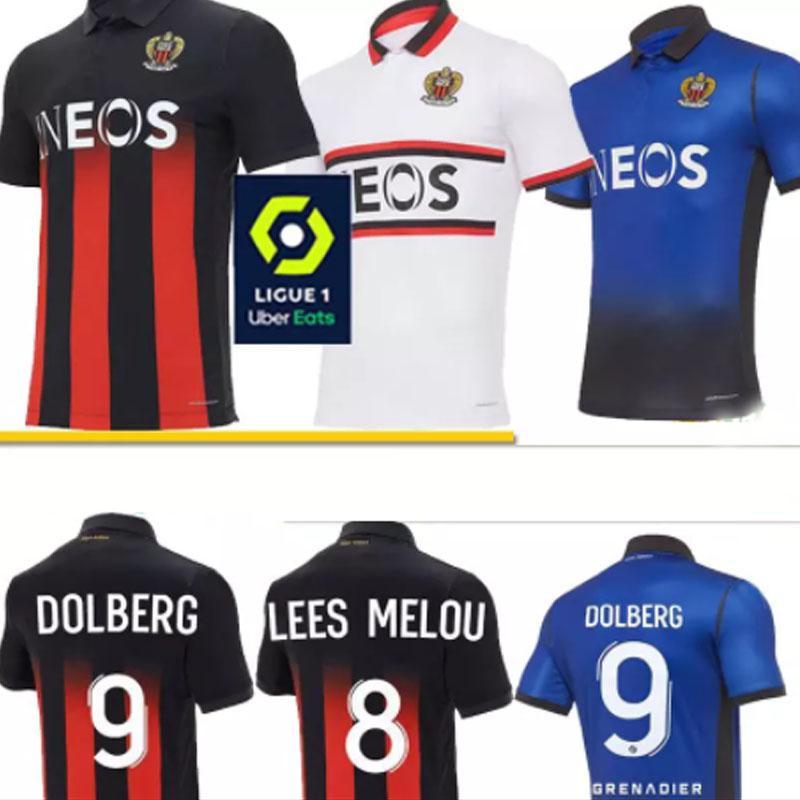 OGC Nice Dolberg Soccer Jerseys 20 21 Maillot de Foot Maximin Lees-Melou Srarfi Le Bihan Att Football Shir