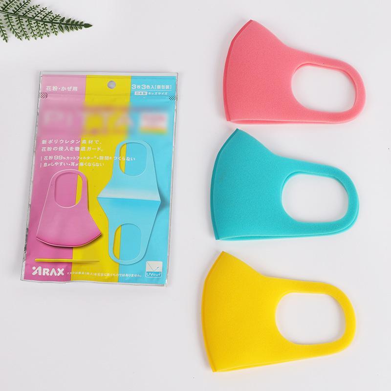 ANTI-BOUCHE Respirateur Face Masque du fabricant de pollen PM2.5 Masques de prévention anti-poussière 3pcs pour enfant GARDER CLEAN 6HL H1