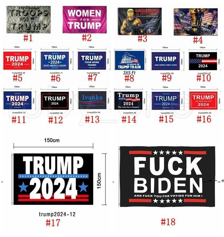 New90 * 150 cm Donald Trump Flags 2024 USA Presidente Bandiera elezione Tenere America Grande American Presidente Presidente Elezione Bandiera EWC6801