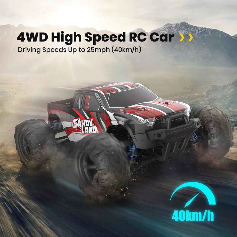 DEERC RC Carro Elétrico 1:18 Escala 30+ MPH 4WD OFF Road Monster Trucks All Terreno 40km / H Brinquedo de Carro de Corrida de Alta Velocidade para Crianças 210322