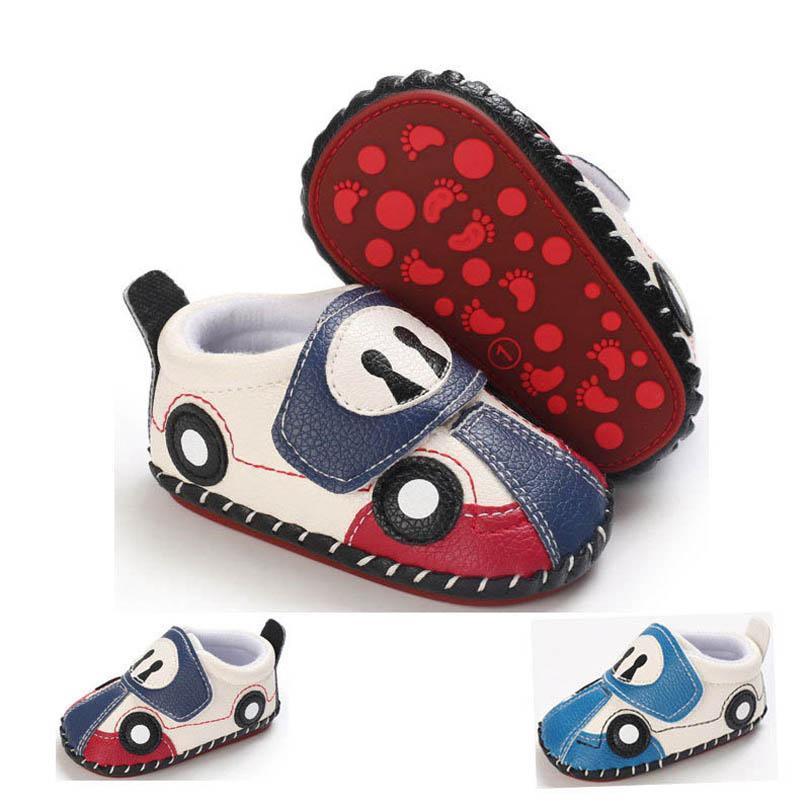 طفل أول ووكر أحذية جلدية طفل الفتيان حديثي الولادة الأحذية الكرتون الأخفاف لينة الرضع ارتداء B6457