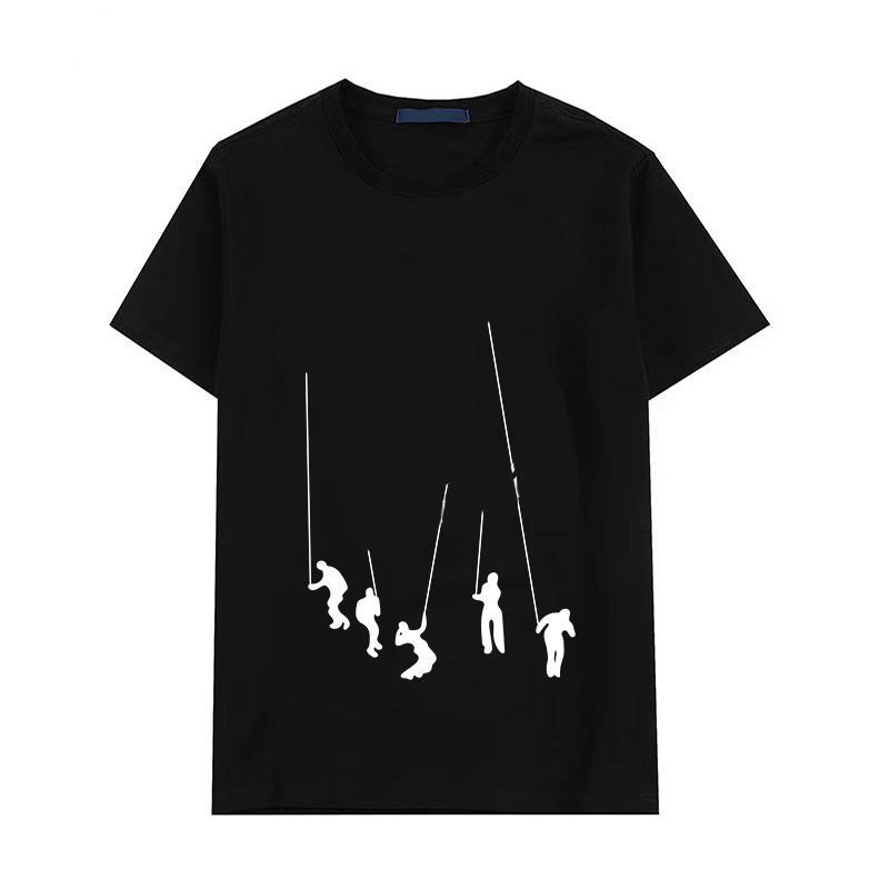 Casual T Shirt Hombres Verano Cómodo Manga Corta Personal Cuello Hombre Tops Moda Carta Patrón Imprimir Muchacho Tees