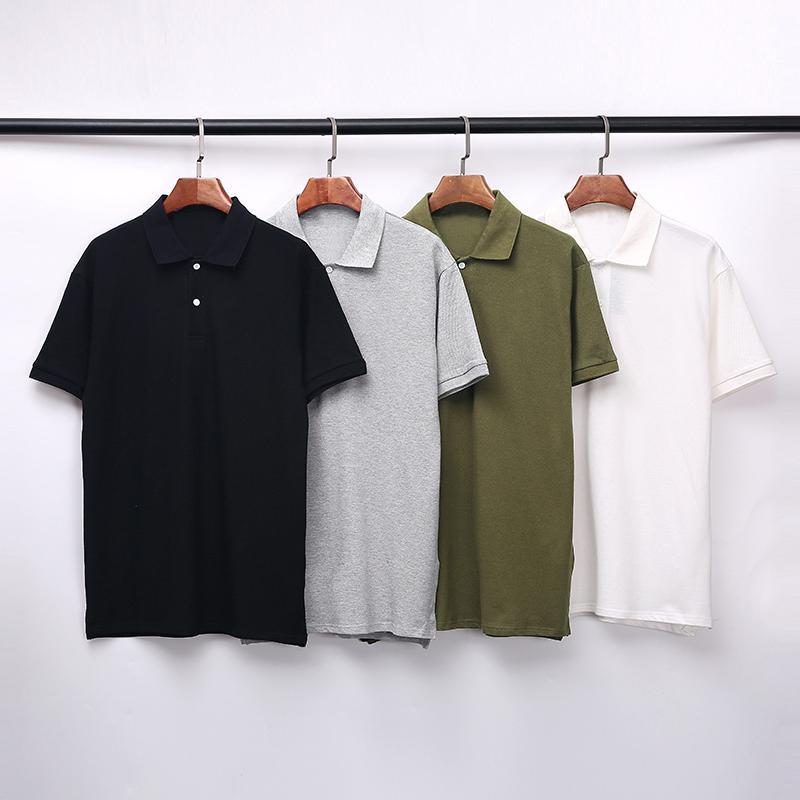 polo shirt men's brand short-sleeved T-shirt fashion casual high quality black and white gray dark green M-2XL