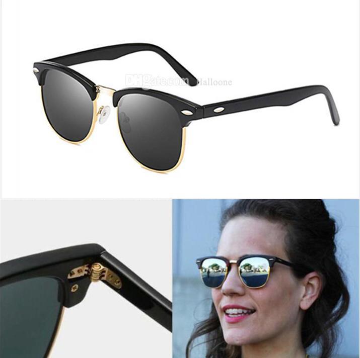 Ray Luxury 2021 Brand Polarized Sunglasses Men Women Pilot Sunglasses UV400 Eyewear Glasses Bans For Womens Metal Frame Polaroid Lens