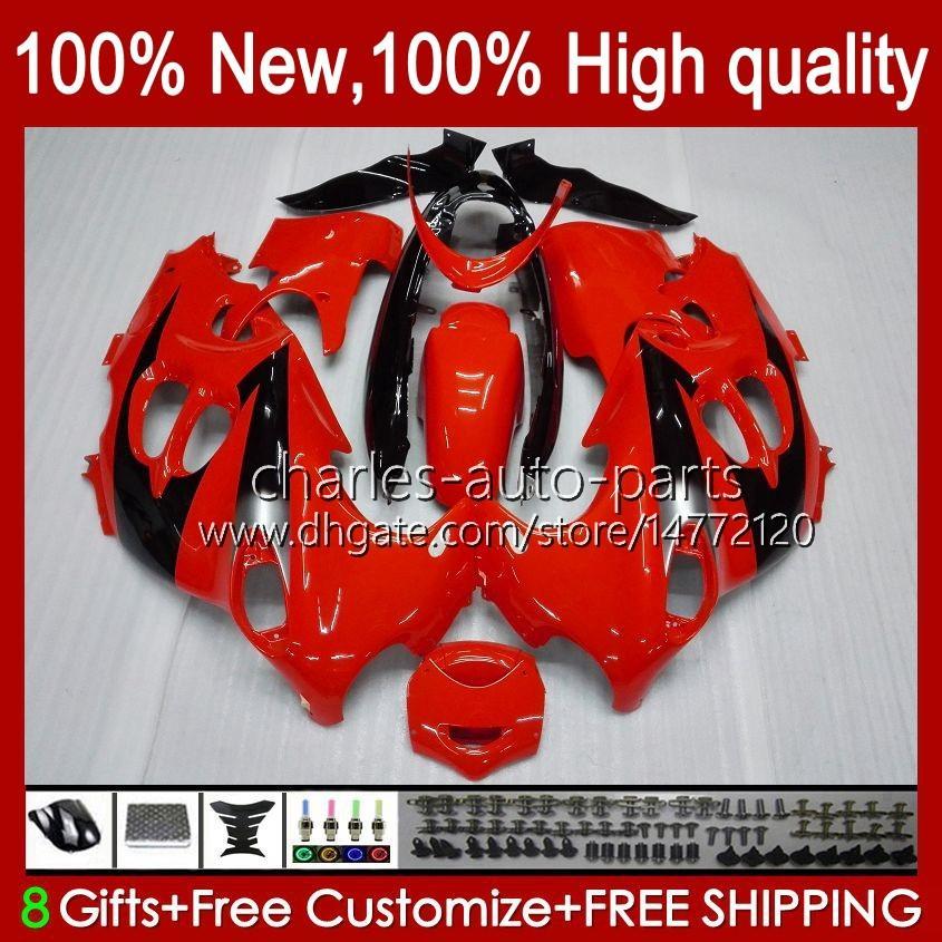 Suzuki GSXF750 GSXF600 Katana GSXF 600 750 CC 600CC 750CC 1998 1999 2000 2000 F 1998 1999 GSX750F GSXF-600 GSXF-750 GSX600F 98 99 00 01 02フェアリング光沢のある赤いBLK