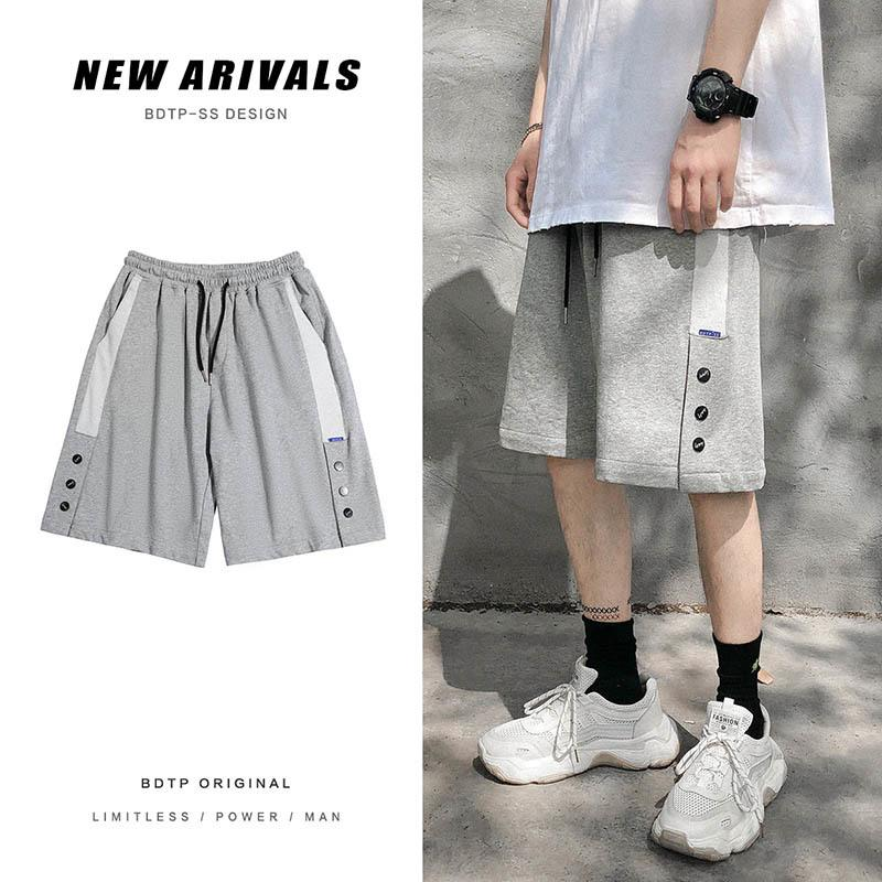Pantaloni estivi Moda coreana da uomo Pantaloncini casual dritti