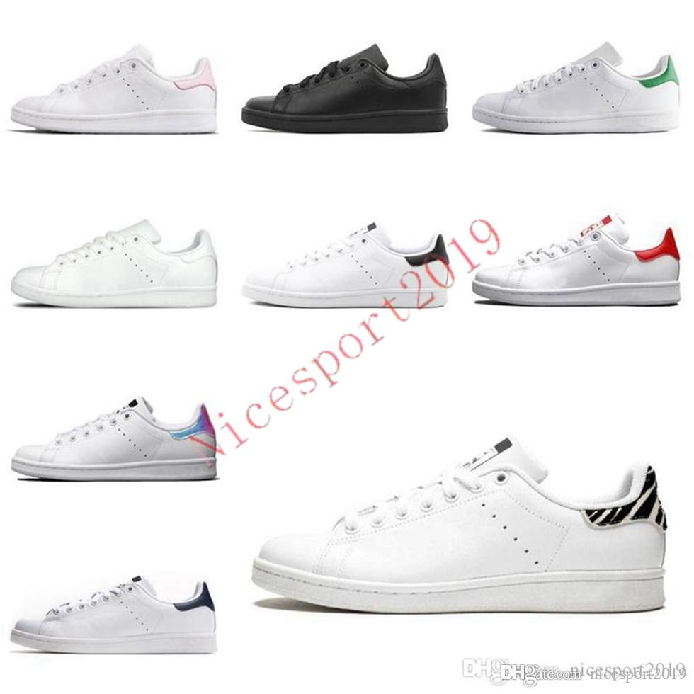 2021 Новые Женщины Мужчины Модная Обувь Стэн Смит Кроссовки Кожаные Классические Квартиры Повседневная Обувь Размер 36-45 D1-X2132 YRD026 IFG0113