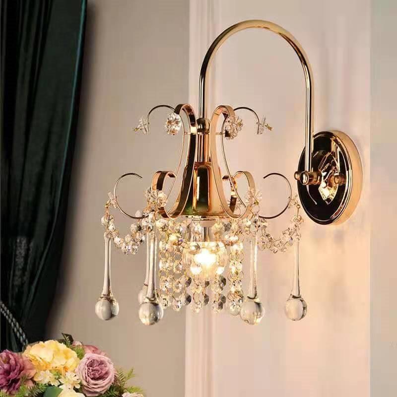 Lámpara de pared de cristal Dormitorio ligero Tipo de sala de estar Comedor
