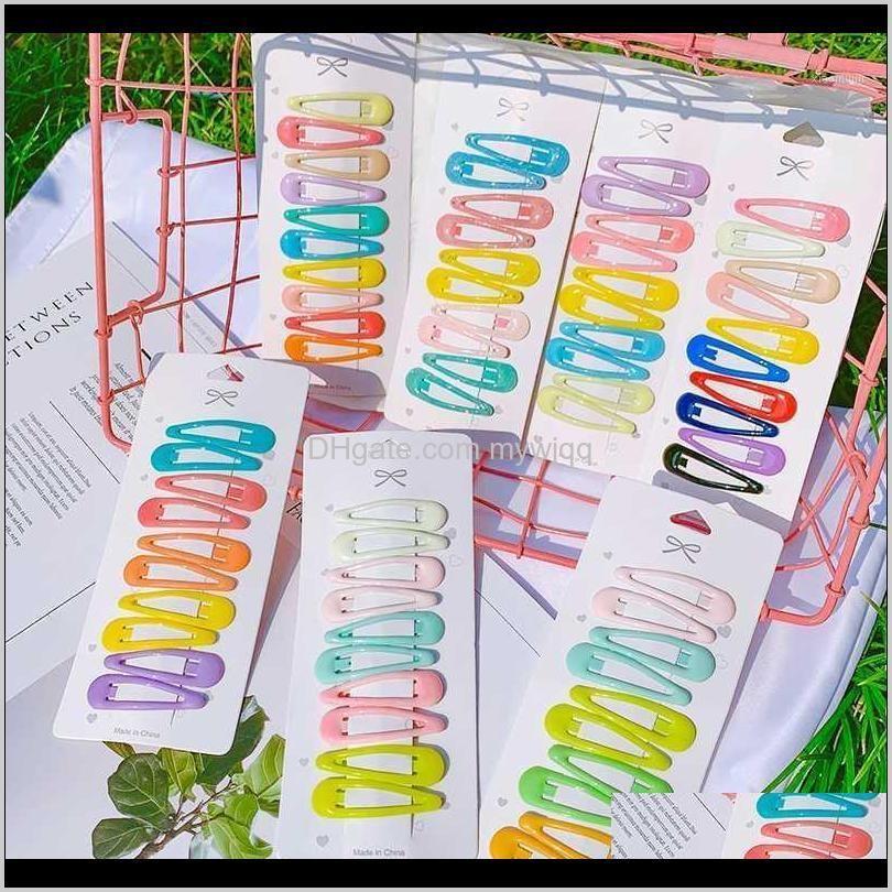 10Pcsset Girls Sweet Colorful Water Droplets Hairpins Bb Children Cute Headbands Kids Fashion Accessories1 Tmfl1 Accessories Sxygw