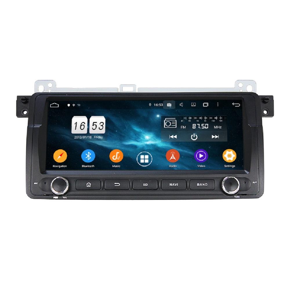 "4GB + 128GB PX6 1 DIN 8.8 ""Android 10 자동차 DVD 플레이어 BMW E46 M3 1998-2004 DSP 스테레오 라디오 GPS 네비게이션 WiFi Bluetooth 5.0 쉬운 연결"