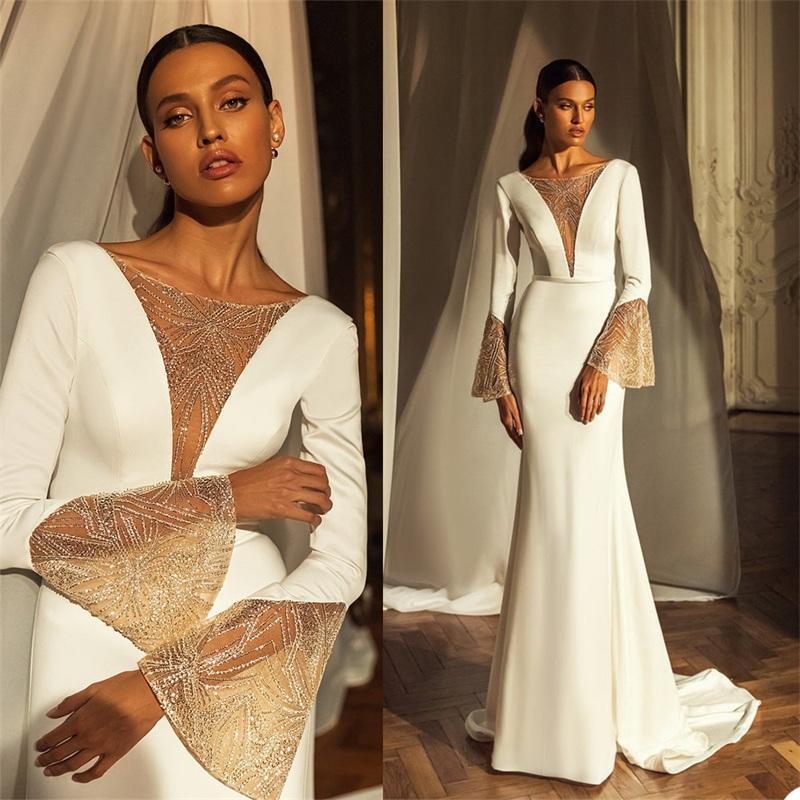 우아한 디자이너 인어 웨딩 드레스 레드 레이스 비치 신부 가운 Ruched 새틴 섹시한 백리스 맞춤형 Boho Robes de Mariée