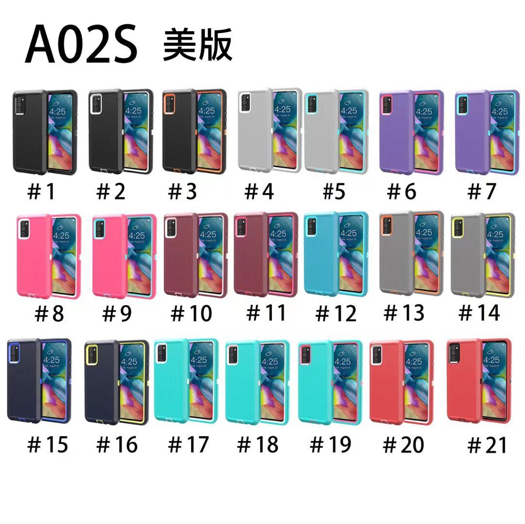 New Metropcs T-Mobile Capas para LG Style7 4G 5G K52 K53 K92 Samsung Galaxy A02s Triple Robot Combo Cinto Clipe Defender Case