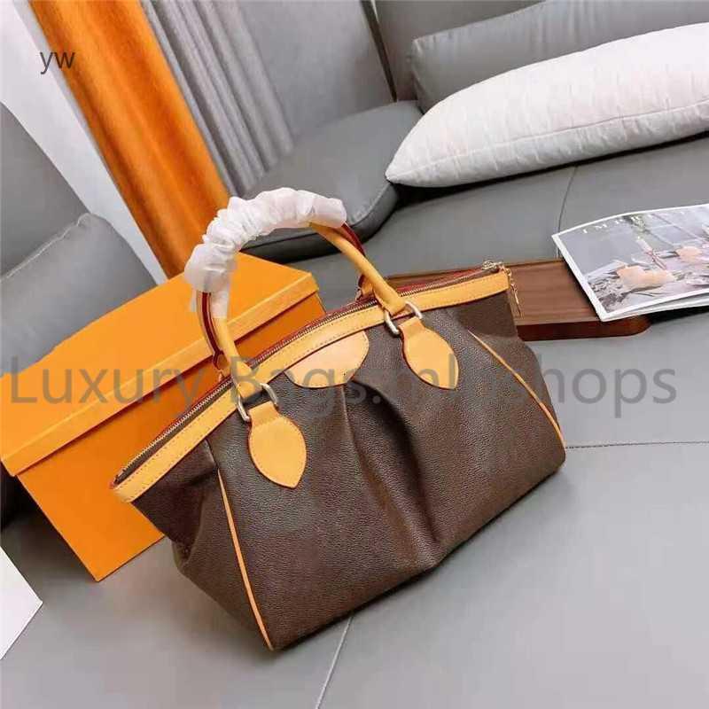 Diseñador de lujo Moda Moda Impreso Bolsa Vintage Purso Hombro Handbags919 Real Cuero Damas Mujeres Hobos Hobos Bolso Grande Casual YW VNGQA
