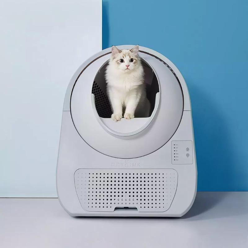 Diğer Kedi Malzemeleri Otomatik Çöp Kutusu Gençlik Sürümü Yarı Kapalı Büyük Tuvalet Anti-Splash Sandbox