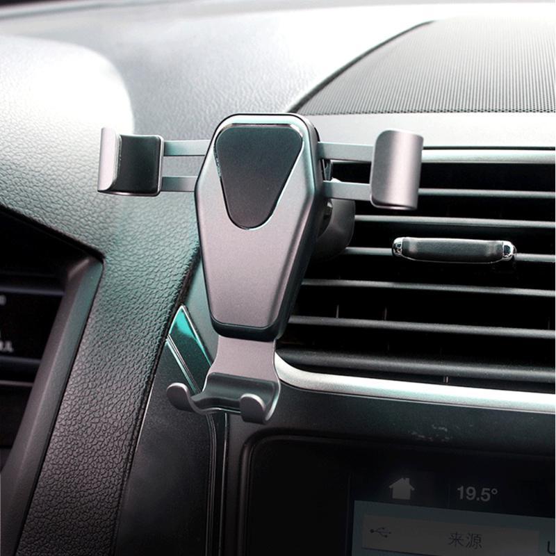 العالمي الجاذبية سيارة قوس حامل الهاتف المحمول تنفيس الهواء جبل للملحقات الذكية حاملي الخلايا الداخلية
