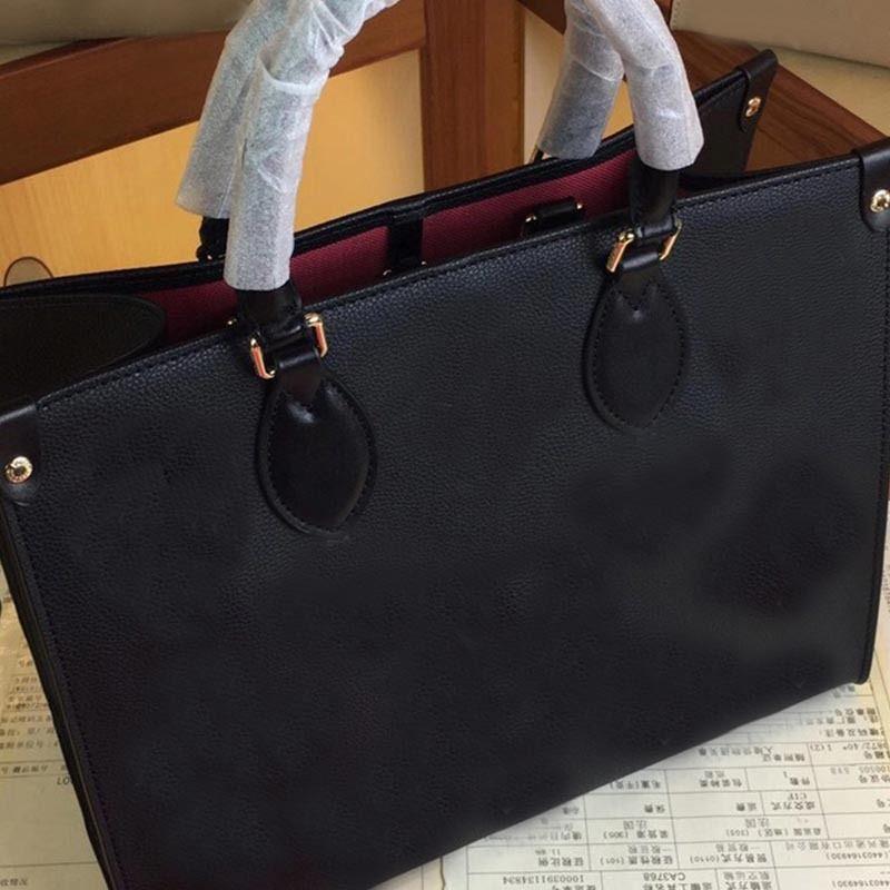 Kadın Lüks Tasarımcılar Çanta Bayanlar Tote Alışveriş Çanta Toptan Çanta Moda Onthego Klasik Mektubu Çanta 34 41 cm Go