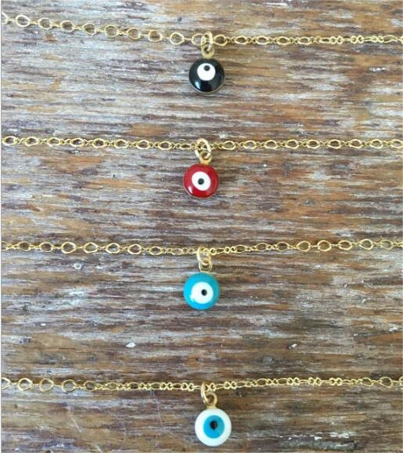 Mini malvagio occhio collana waterdrop pendente collane oro argento placcato catena donna ragazza ragazza moda fine gioielli T029 442 T2
