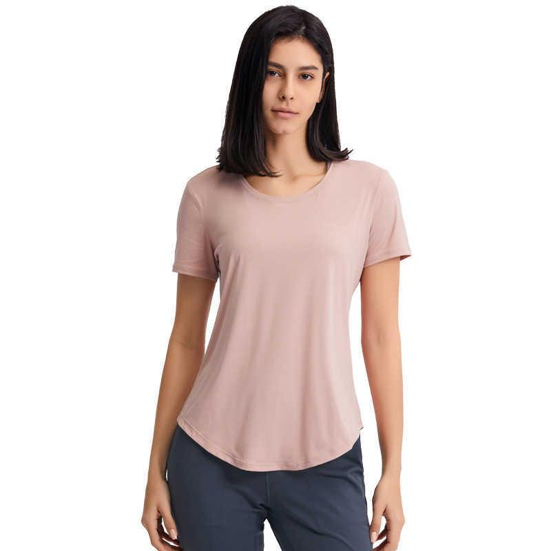 Women Short Sleeves Running Shirt LU-176 Quick Dry Fitness Yoga Sports T-Shirt Gym Clothes Tee Tops Workout Athletic Jogging Tees