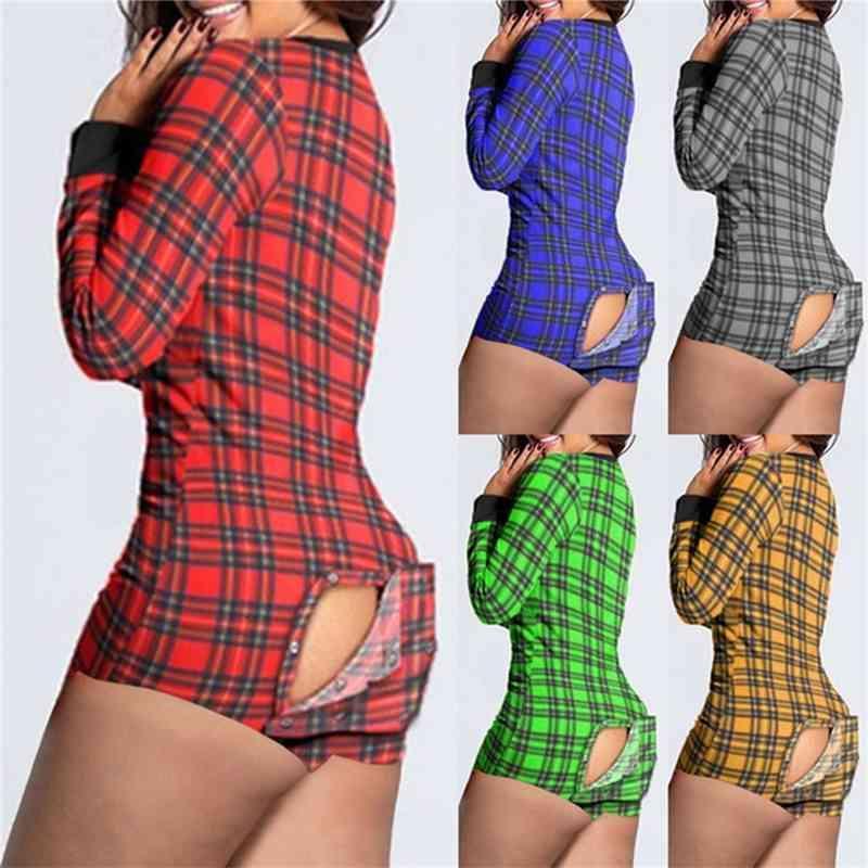 봄과 여름 V 넥 새로운 인쇄 기능 버튼 뒤집기 성인 잠옷 반바지 긴 소매 홈웨어 슬림 패션 캐주얼 rompers