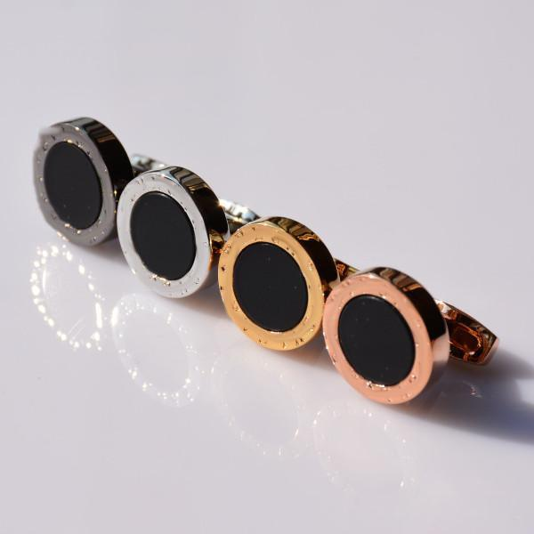 Luxury cuff Links good quality Man Classic stainless steel Style With Jewelry Silver gold black rose-gold colors