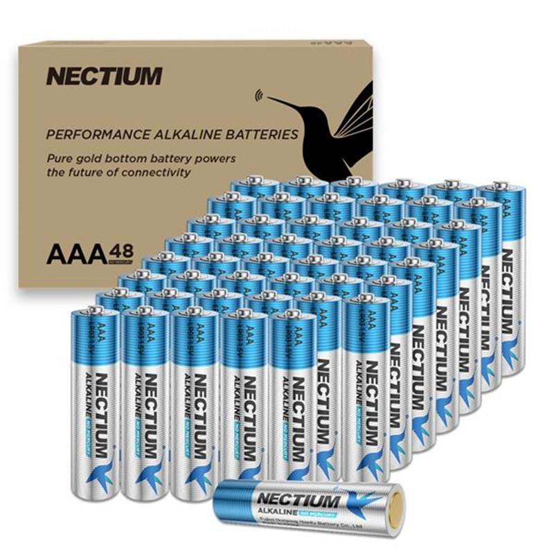 48pcs / cartone Superior Performance AAA ALKALINA Batterie Pure-Gold-Oro-Bottom 1.5 V NI-MH Camera Torcia Torcia Ritirabilità Giocattolo Singola batteria per dispositivi IoT e blocco intelligente