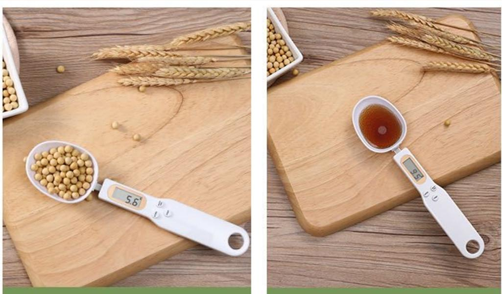 500g/0.1g Capacity Coffee Tea Digital Electronic Scale Kitchen Measuring Spoon Weighing Device LCD Display Cooking with USB