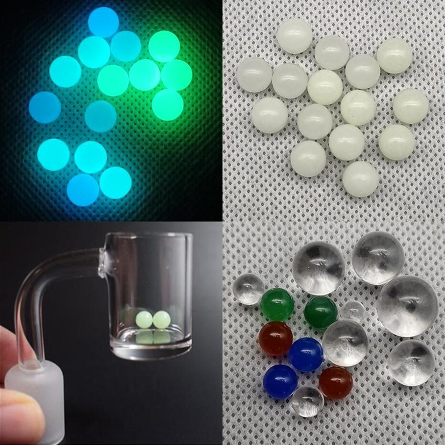 Quarzo terpe perla luminosa luminosa palla spinting palla perlina narghilè 4mm 6mm 8mm 10mm 12mm colore colore rosso blu verde banger chiodo dab vetro bong