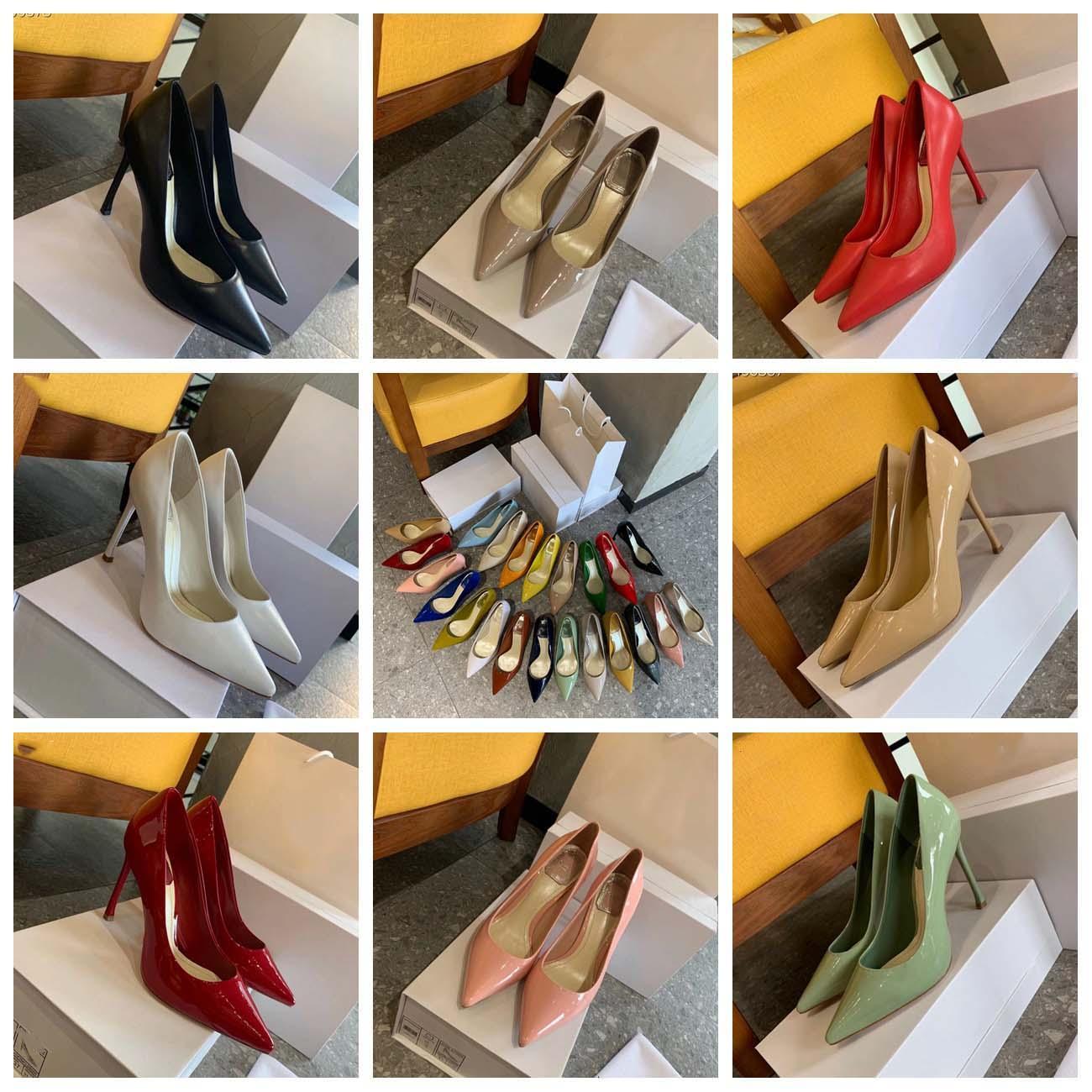Clássicos Mulheres Saltos Sapatos Sandálias Moda Praia Grosso Chinelos de Fundo Alfabeto Lady Leather High High Salcão Slides por Home011 10