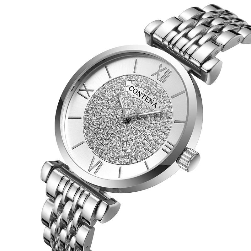 Conten Wtch Femmes Dimond Fshion Ldies Wtch Relogio Feminino Robe Womens Wtch Horloge Reloj Mujer 2021 Zegrek Dmski