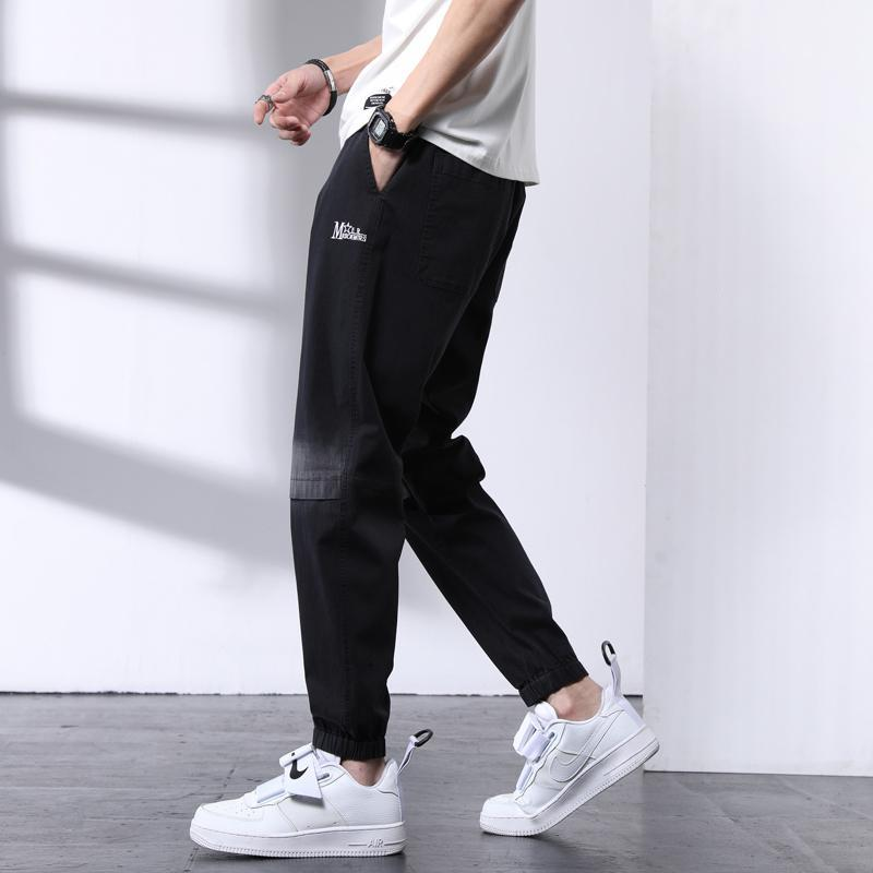 Yaz Erkekler Klasik Kot Ince Denim Streetwear Moda Pantolon Erkek Casual Fit Koşu Katı Büyük Boy Uzun Pantolon Erkekler
