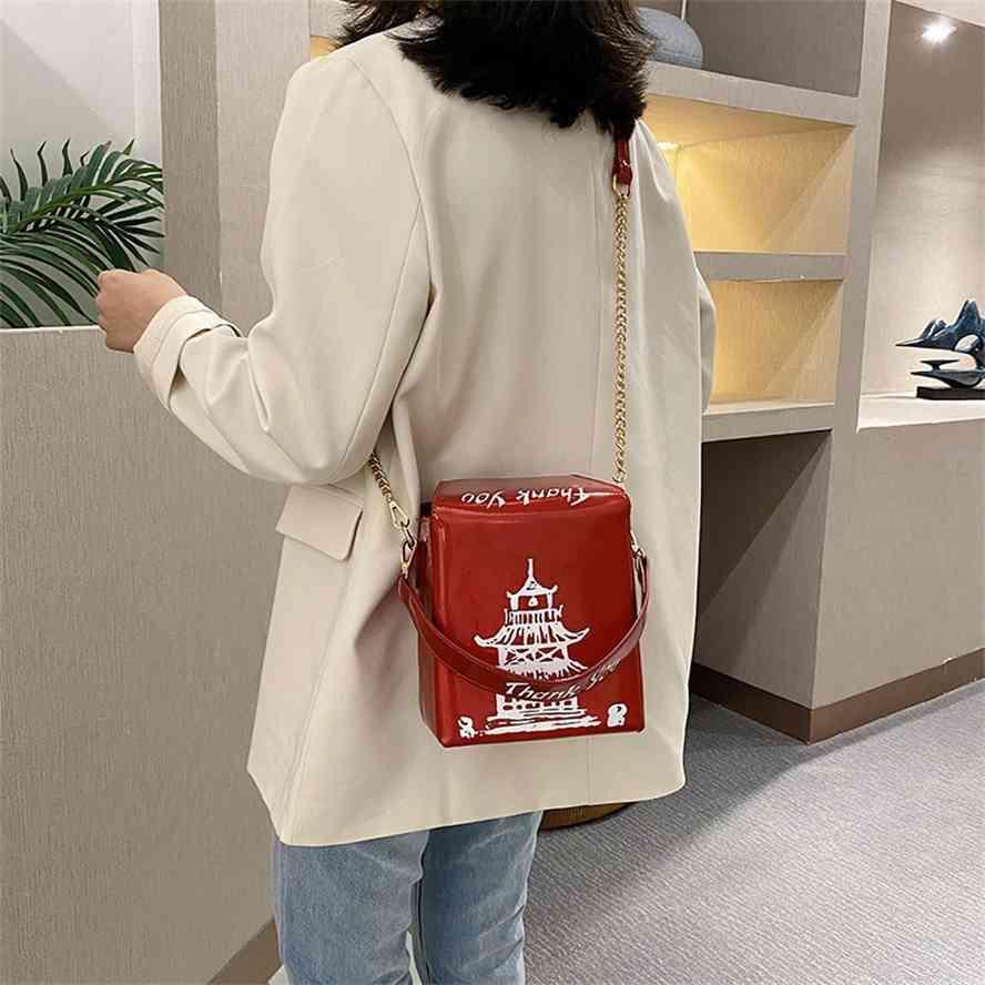 Moda tendência caixa laser tipo chinês personalidade harajuku novo pu impressão das mulheres bolsa de mulheres um ombro saco de inclinação