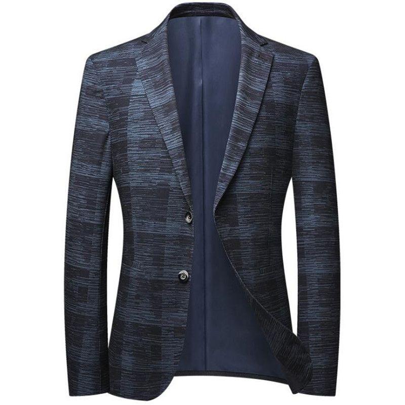 Giacche da uomo giacche slim fit primavera autunno business tempo libero blazer moda