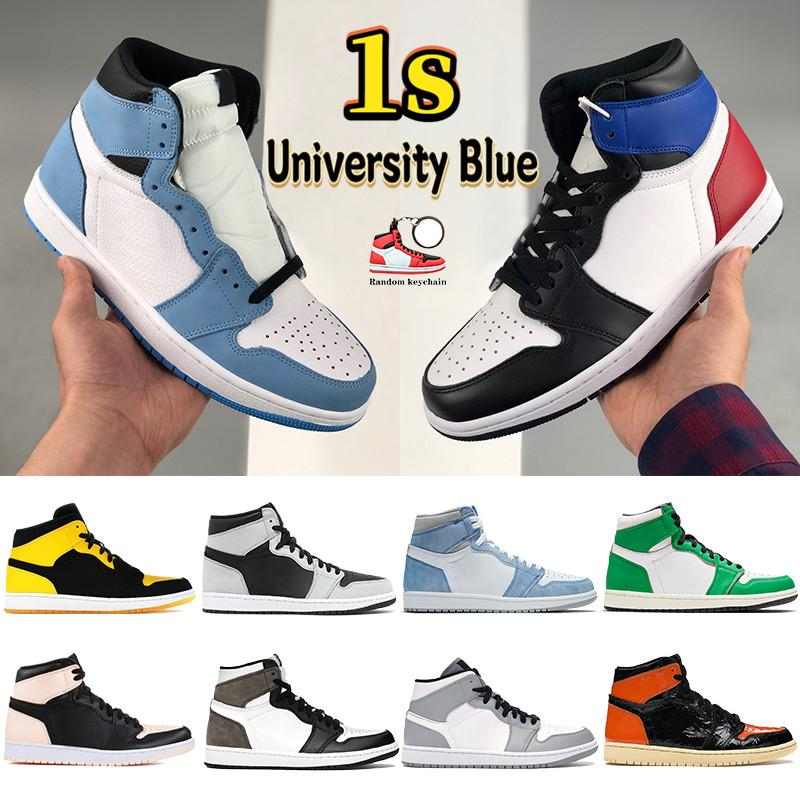 Fashion 1s Jumpman men women basketball shoes 1 high Court Purple White UNC Patent incredible Hulk NC to Chi leather designer sport sneakers