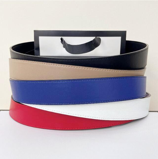 2021 Fashion Belt fibbia in pelle larghezza di banda di cuoio 3.8 cm 6 colori scatola di alta qualità Designer da uomo da uomo 5AAAAA