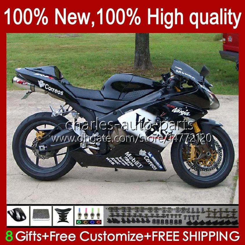 Corpo Moto per Kawasaki Ninja OEM ZX600C ZX636 ZX 6R 6 R 600CC 05-06 BodyWorks 7No.54 ZX600 ZX 636 ZX-6R 2005 2006 ZX-600 ZX-636 600 CC ZX6R 05 06 ABS Kit carenatura Black West