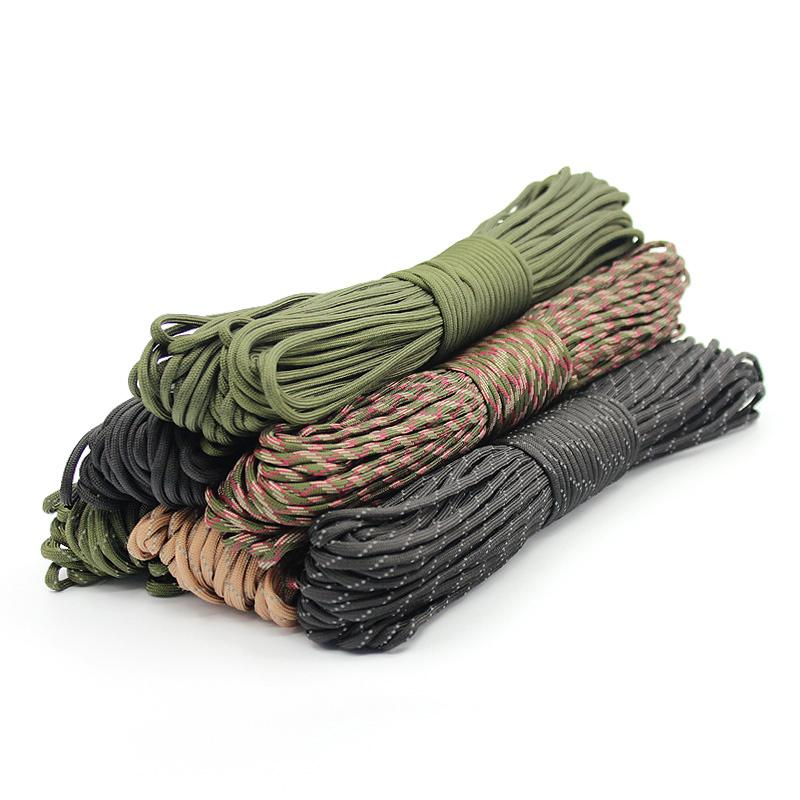 Climbing Camping Ropes 4 Size Dia.4mm 9 stand Rope Paracord for Survival Parachute Cord Lanyard Hiking Clothesline