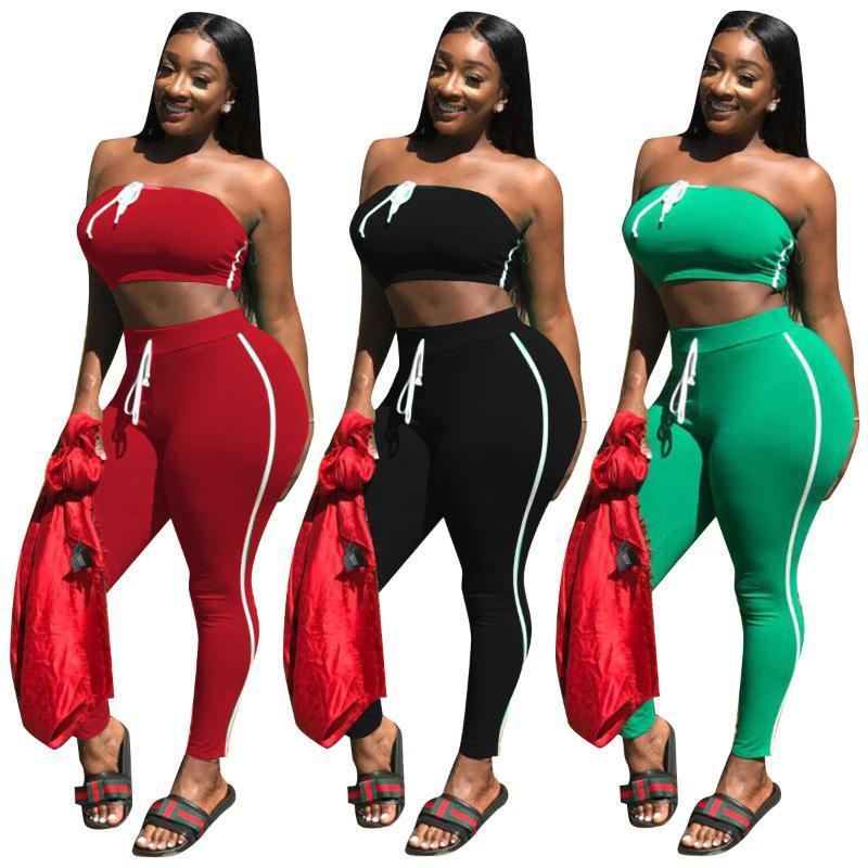 Kemer Aktif Setleri Iki Parçalı Set Üst Ve Pantolon Artı Boyutu Kıyafetler Eşofman Eşofman Katı Renk İlkbahar Yaz Kadın