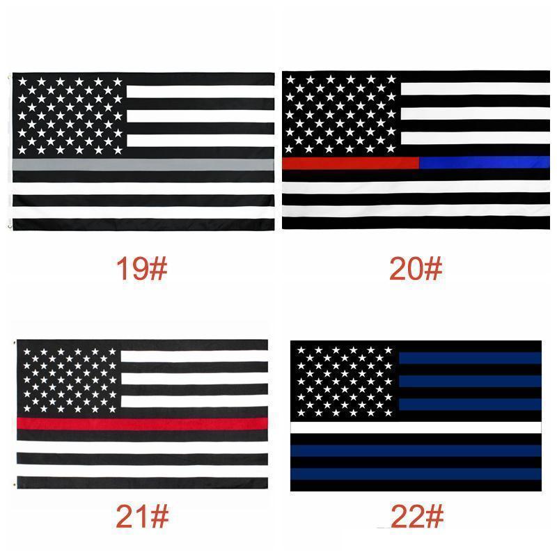 USA-Flaggen US-Armee-Banner Airforce Marine Corp Navy Besty Ross-Flagge Tunt tritt auf mich Flaggen Thin XXX Line Flag GWB5822
