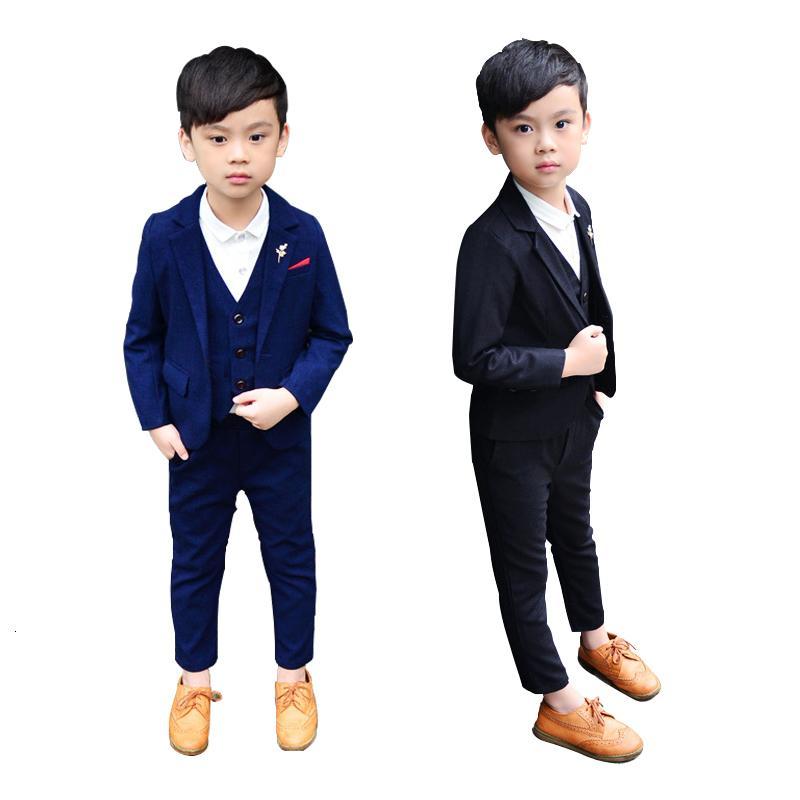 2021 vestido de primavera uniforme escolar para niños niños formales bodas trajes adolescente niños fiesta ropa elegante bebé traje de negocios
