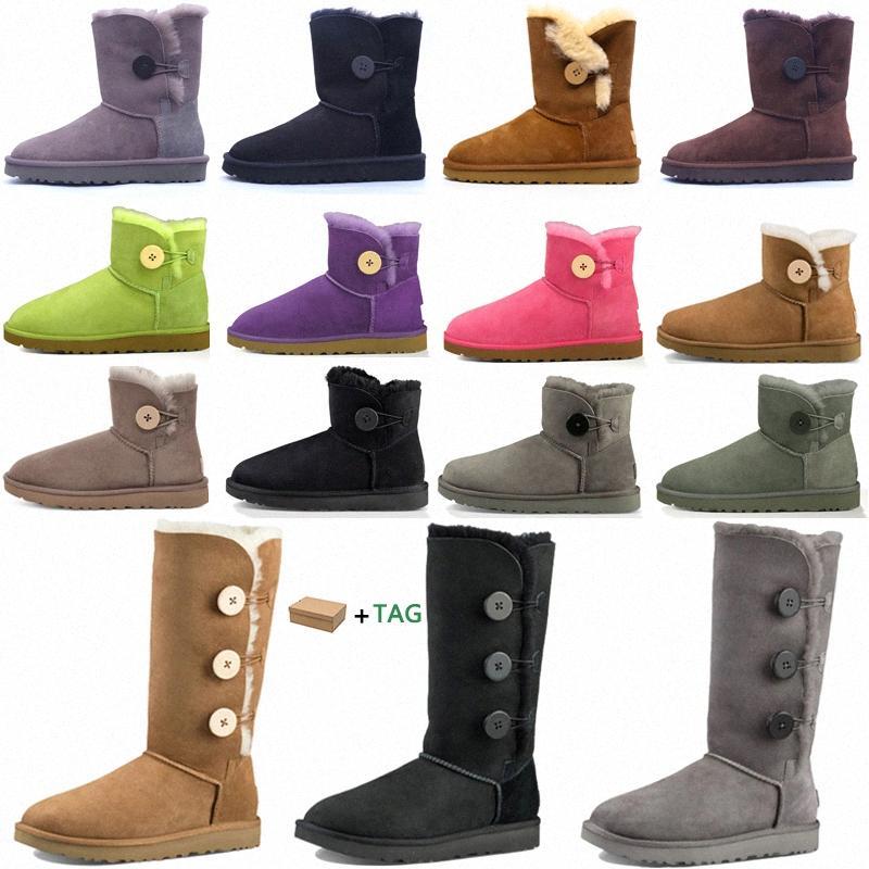 2021 Mulheres Mulheres Austrália Botas Australian Botas de Inverno Neve Peludo Cetim Boot Botas de Ouro Couro de Pele Outdoors Sapatos # 25HJ Q1JC #