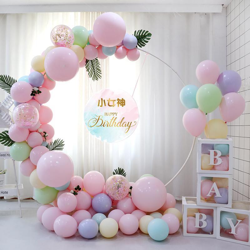 98cm blanc ballon plastique arc ballon bricolage fond de fond cercle balton colonne base baby douche anniversaire mariage décoration décoration