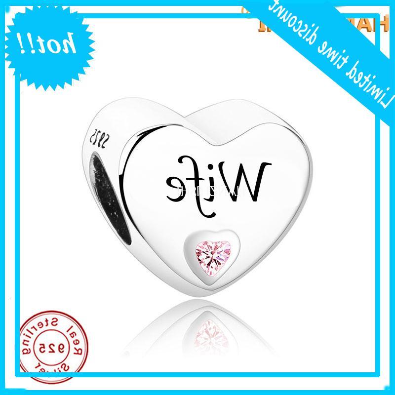 FIT ORIGINAL BEDELS Pulseras Joyas 2021 Día de la Madre Regalo 925 Sterling Silver Heart Crazals grabados Mujer encantos