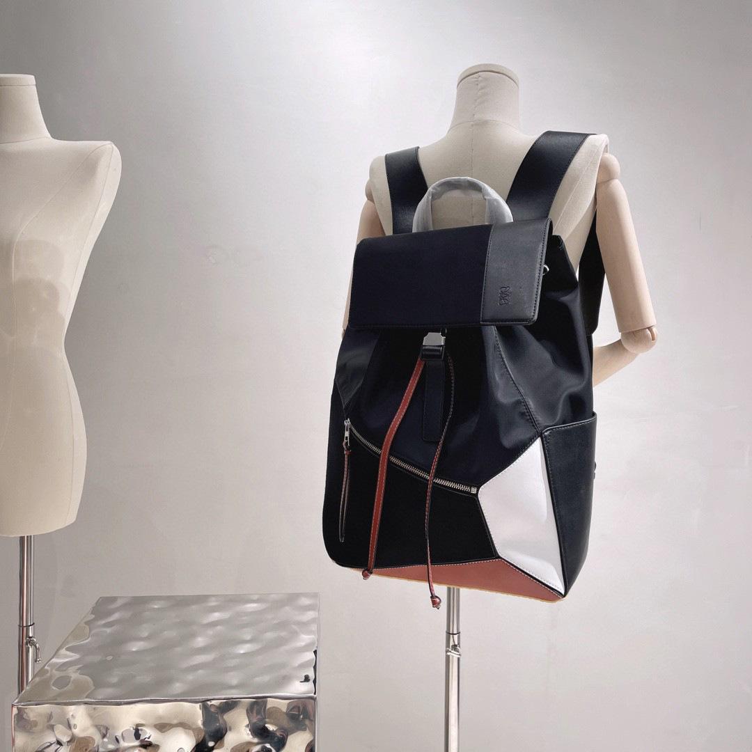 Men's Women Handbags 2021 Fashion Luojia Backpack l School Splicing Contrast Leisure Student Zmm